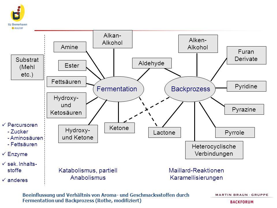 Fermentation Backprozess Alkan-Alkohol Alken-Alkohol Amine