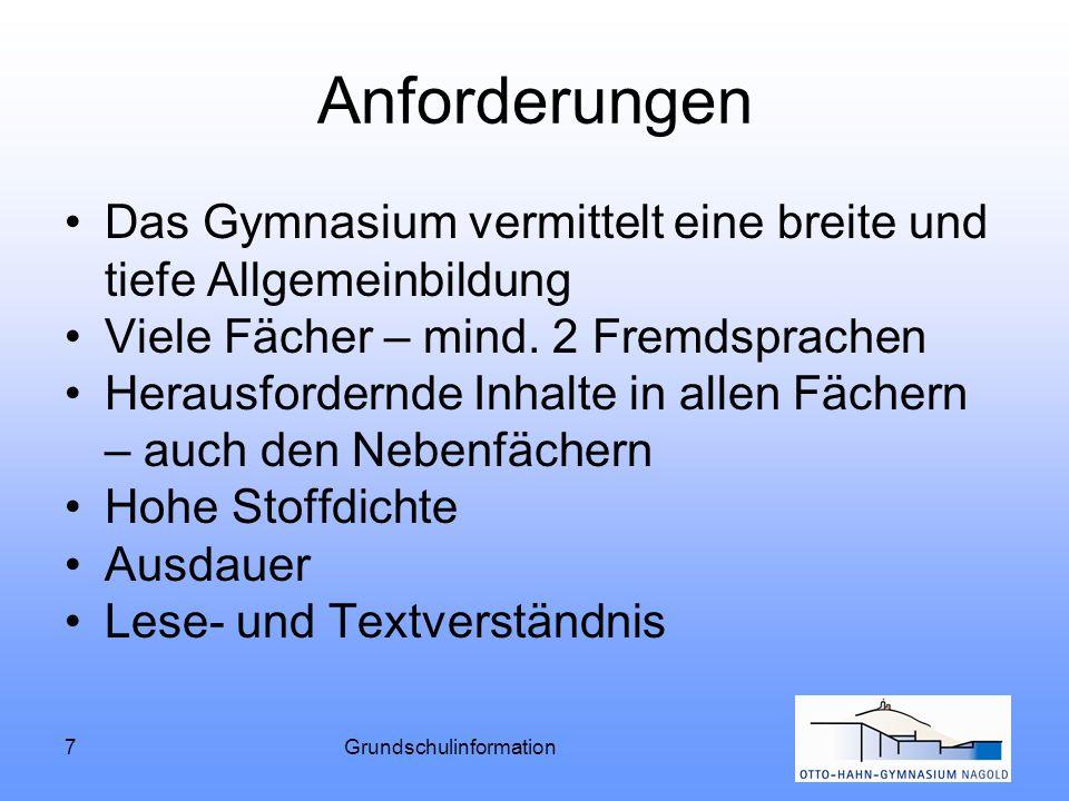 Grundschulinformation