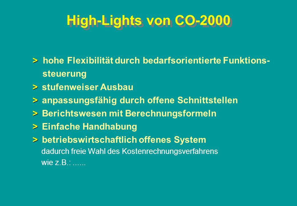 High-Lights von CO-2000 > hohe Flexibilität durch bedarfsorientierte Funktions- steuerung. > stufenweiser Ausbau.