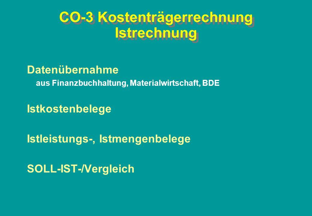 CO-3 Kostenträgerrechnung Istrechnung