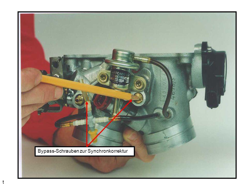 Bypass-Schrauben zur Synchronkorrektur