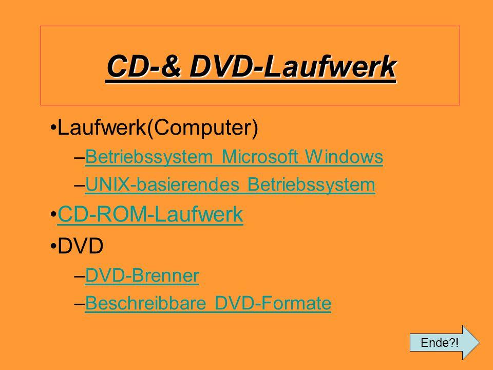 CD-& DVD-Laufwerk Laufwerk(Computer) CD-ROM-Laufwerk DVD