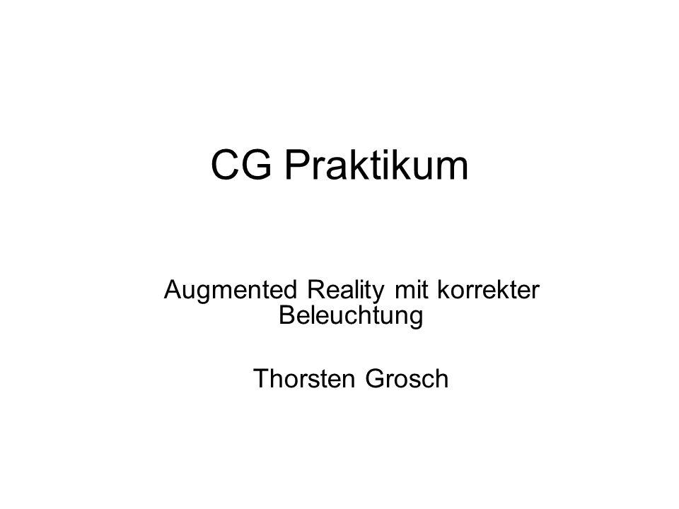 Augmented Reality mit korrekter Beleuchtung Thorsten Grosch