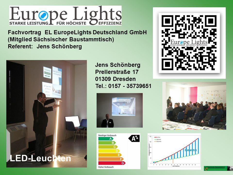 LED-Leuchten Fachvortrag EL EuropeLights Deutschland GmbH