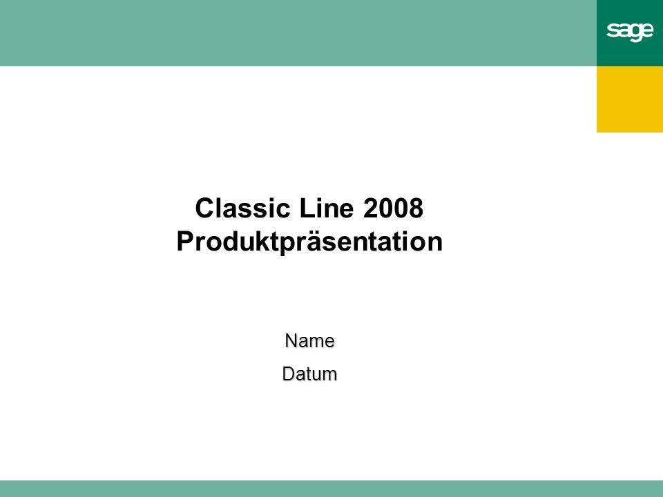Classic Line 2008 Produktpräsentation