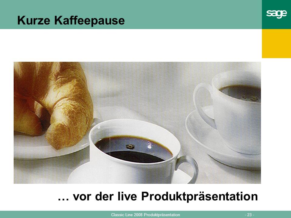 … vor der live Produktpräsentation