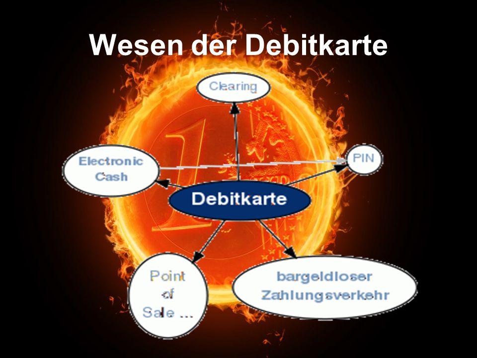 Wesen der Debitkarte