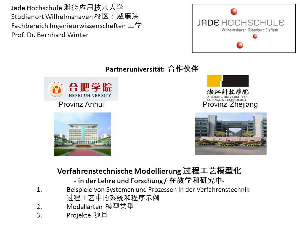 Verfahrenstechnische Modellierung 过程工艺模型化
