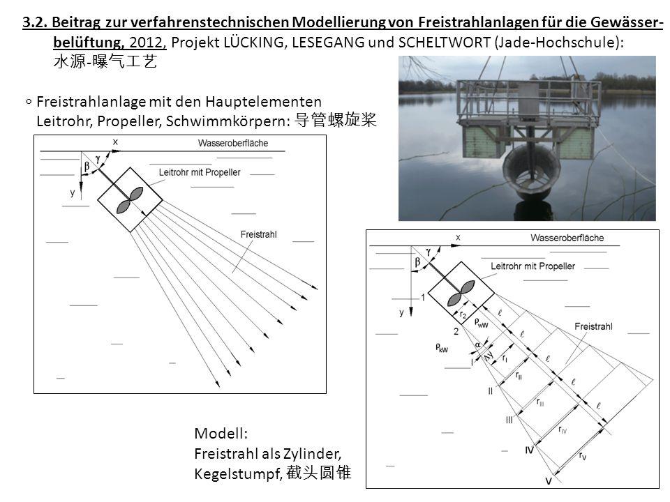 3.2. Beitrag zur verfahrenstechnischen Modellierung von Freistrahlanlagen für die Gewässer-