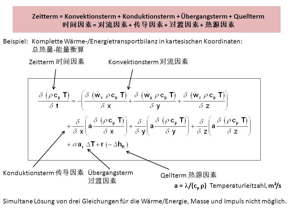 时间因素 = 对流因素 + 传导因素 + 过渡因素 + 热源因素