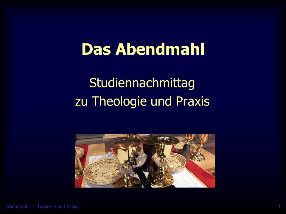 Studiennachmittag zu Theologie und Praxis