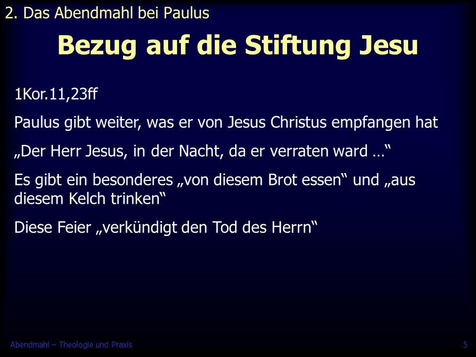 Bezug auf die Stiftung Jesu