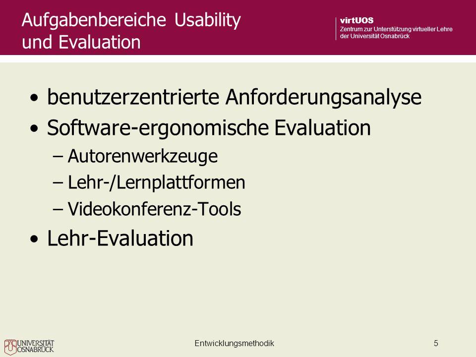 Aufgabenbereiche Usability und Evaluation