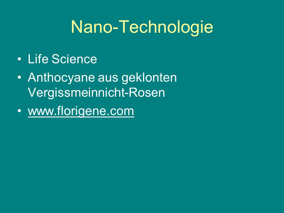 Nano-Technologie Life Science