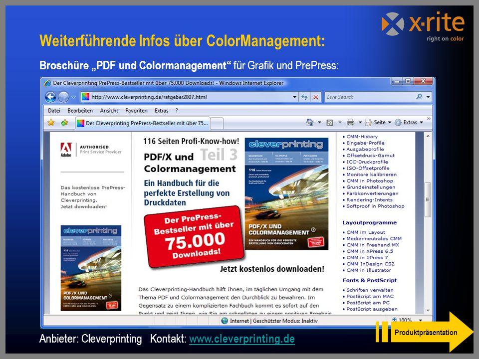 Weiterführende Infos über ColorManagement: