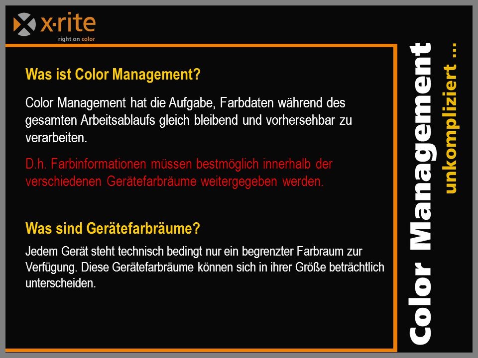Was ist Color Management