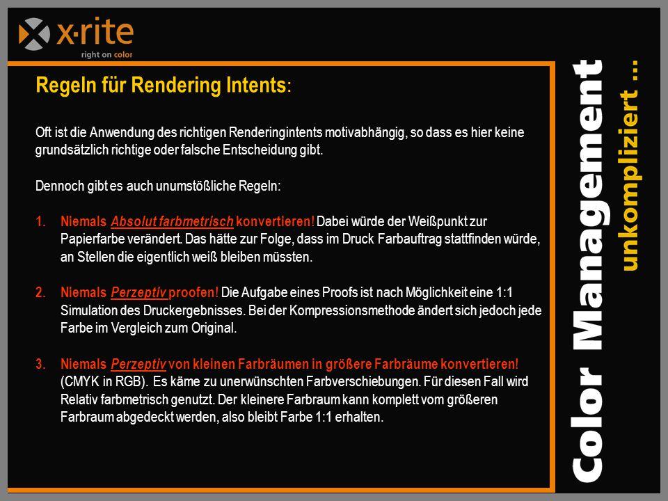 Regeln für Rendering Intents: