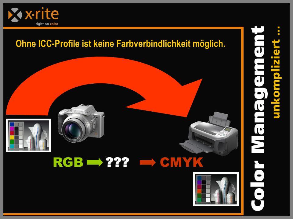Ohne ICC-Profile ist keine Farbverbindlichkeit möglich.