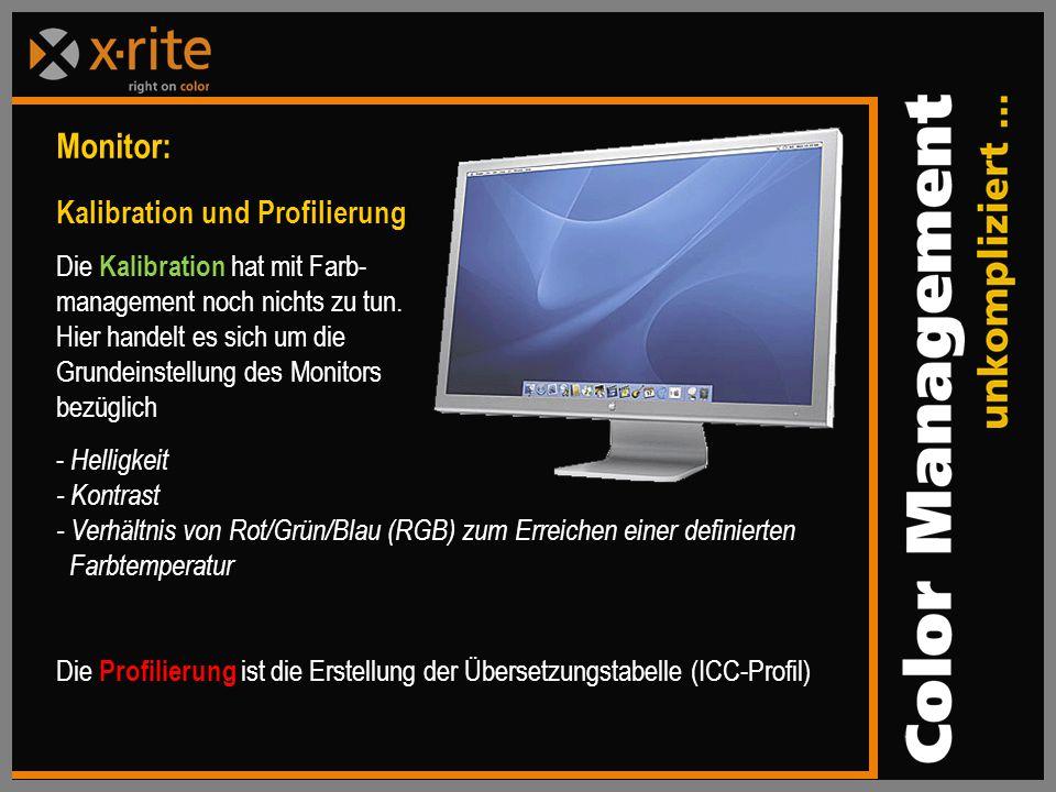 Monitor: Kalibration und Profilierung