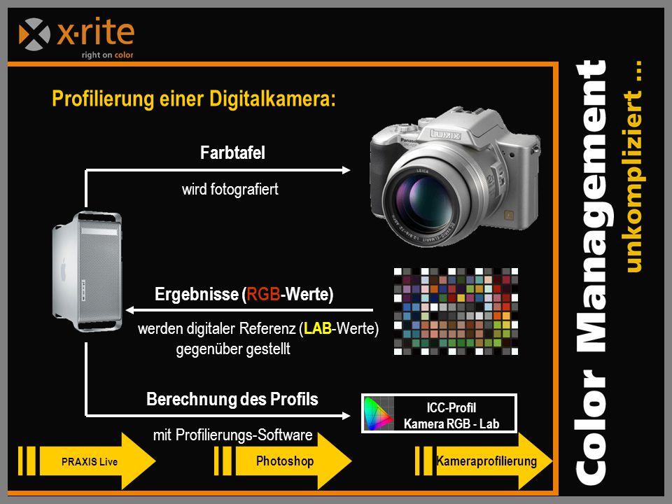 Ergebnisse (RGB-Werte) Berechnung des Profils