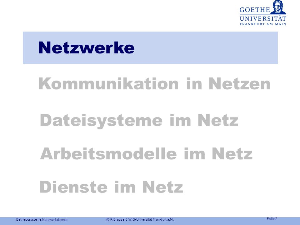 Kommunikation in Netzen
