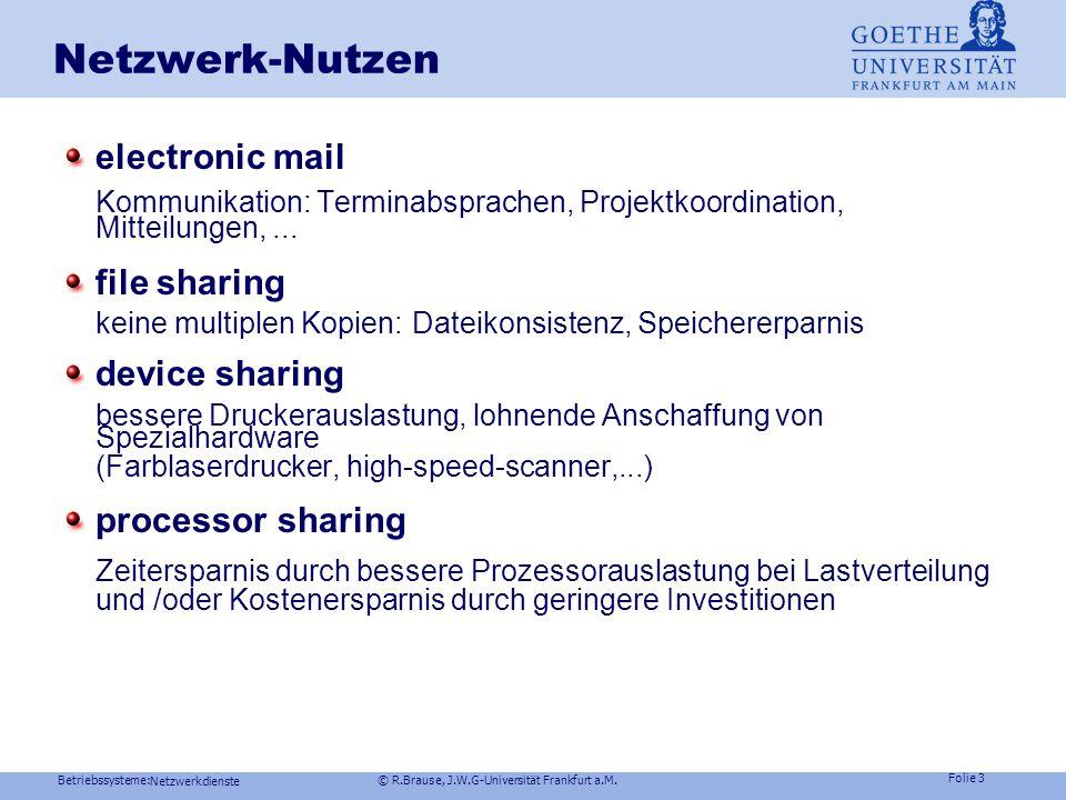 Netzwerk-Nutzen electronic mail