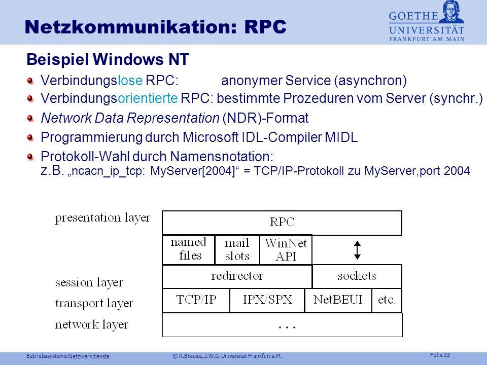 Netzkommunikation: RPC