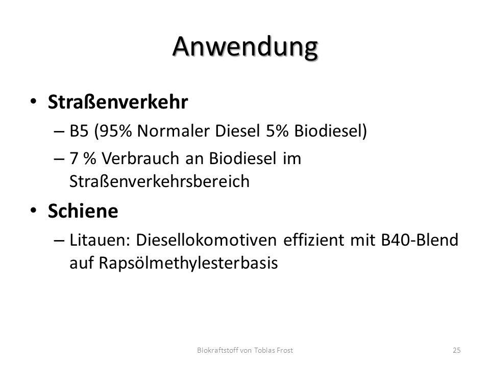 Biokraftstoff von Tobias Frost
