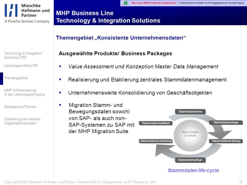 """Themengebiet """"Konsistente Unternehmensdaten"""
