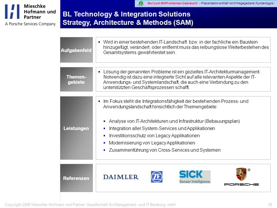 BL Technology & Integration Solutions Strategy, Architecture & Methods (SAM)