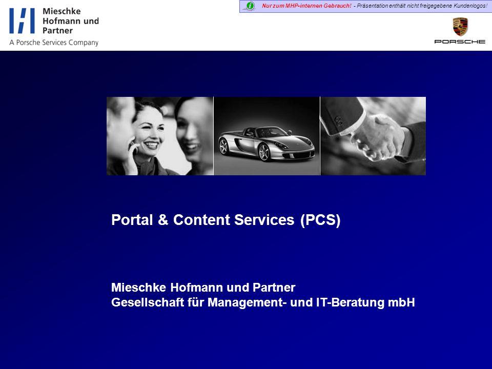 Portal & Content Services (PCS)
