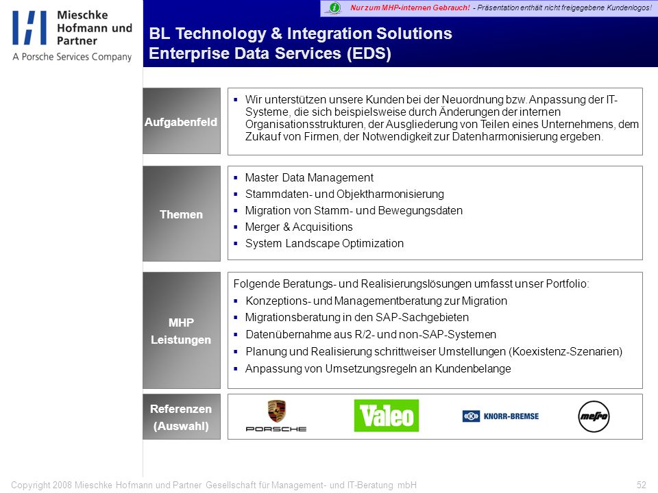 BL Technology & Integration Solutions Enterprise Data Services (EDS)