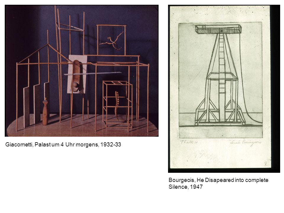 Giacometti, Palast um 4 Uhr morgens, 1932-33