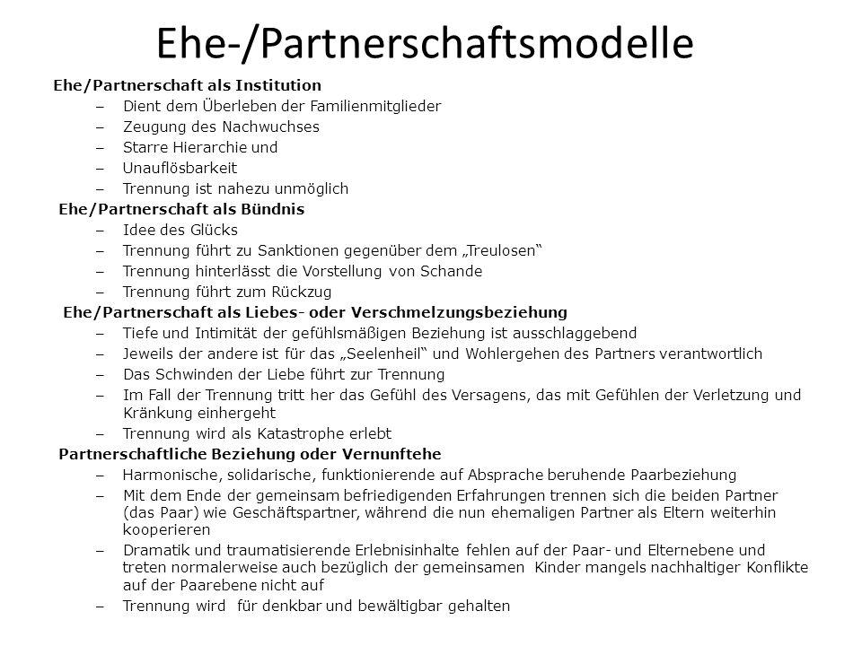 Ehe-/Partnerschaftsmodelle