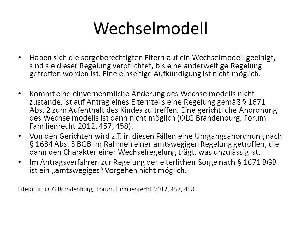Wechselmodell