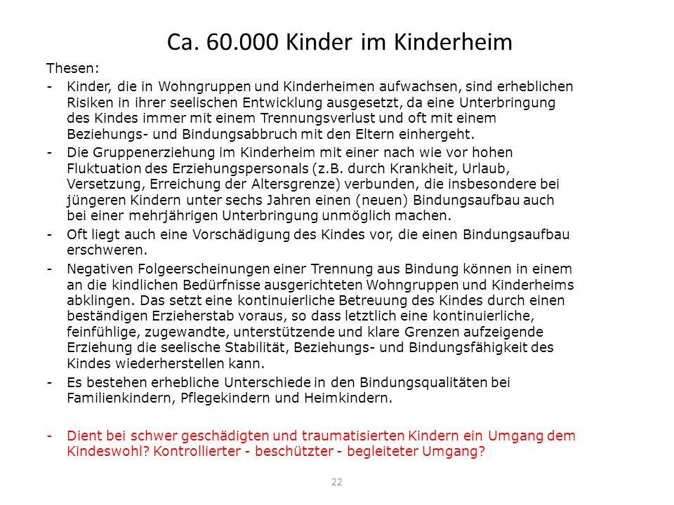 Ca. 60.000 Kinder im Kinderheim
