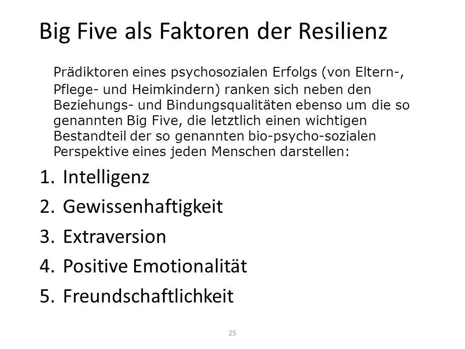 Big Five als Faktoren der Resilienz