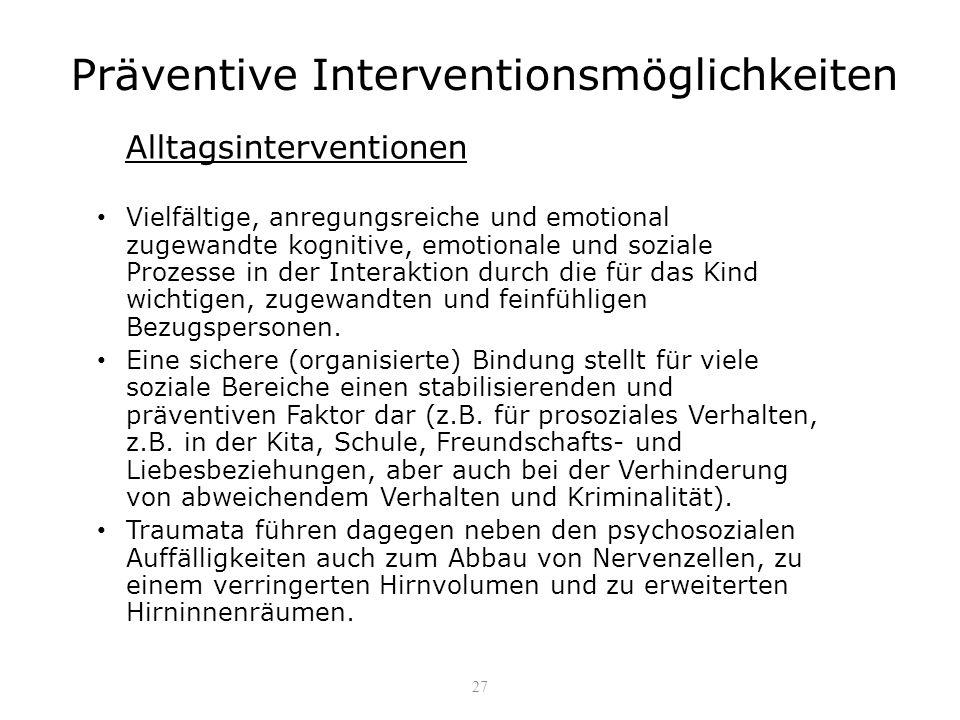 Präventive Interventionsmöglichkeiten