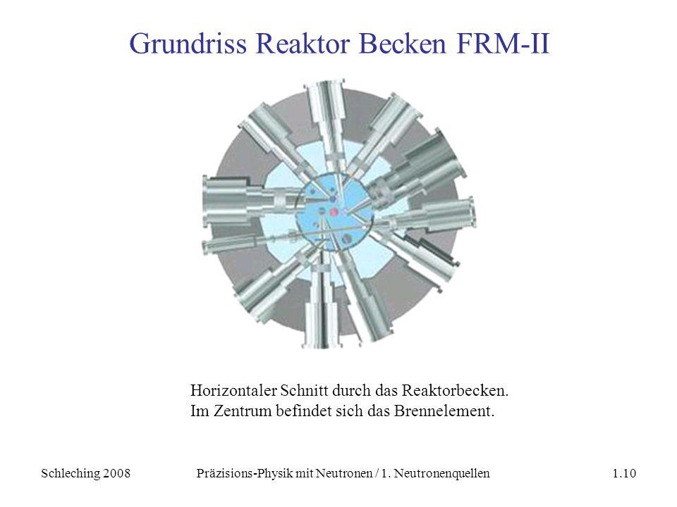 Grundriss Reaktor Becken FRM-II