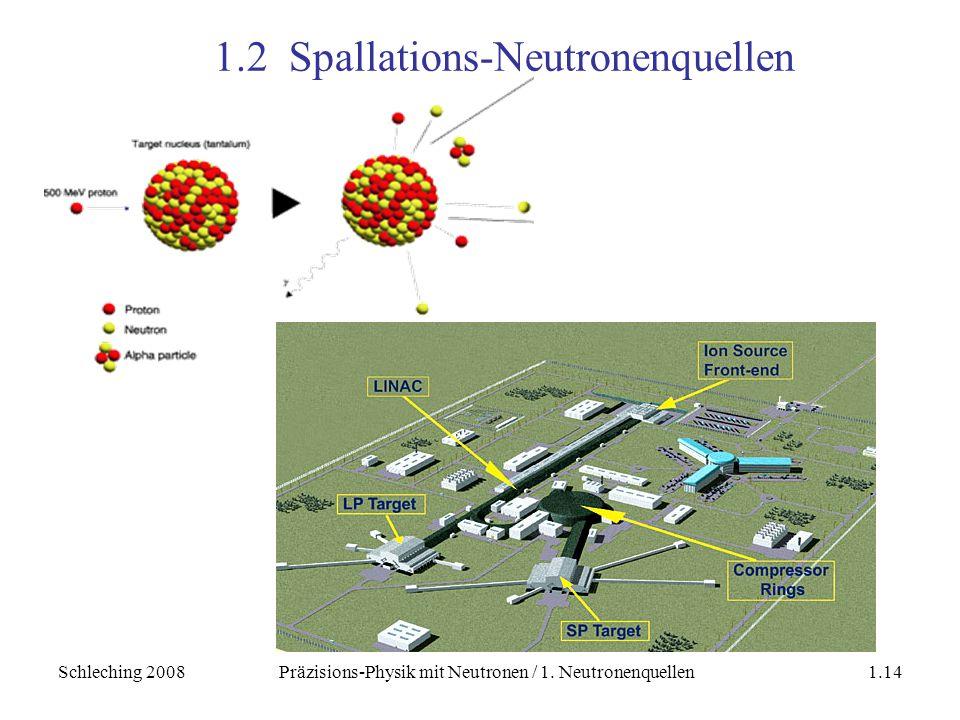1.2 Spallations-Neutronenquellen