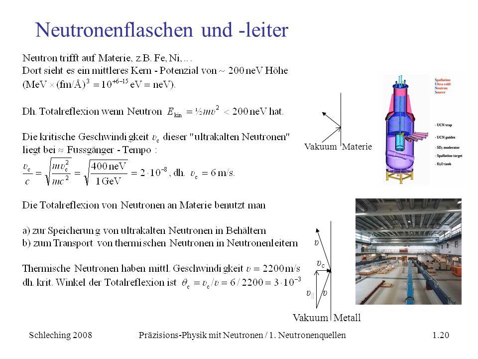 Neutronenflaschen und -leiter