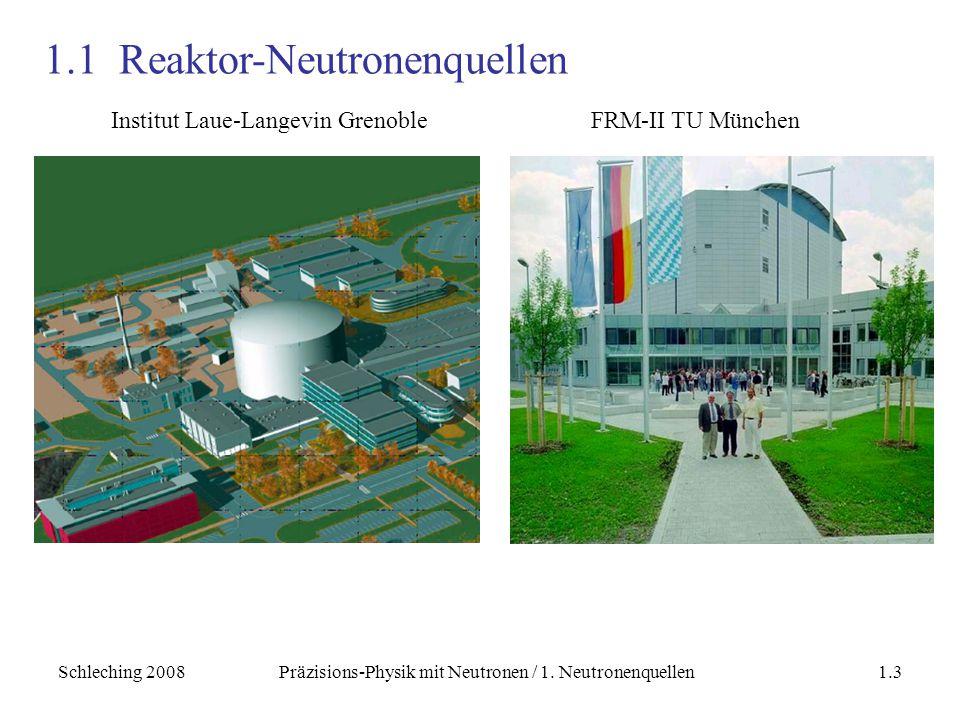 1.1 Reaktor-Neutronenquellen