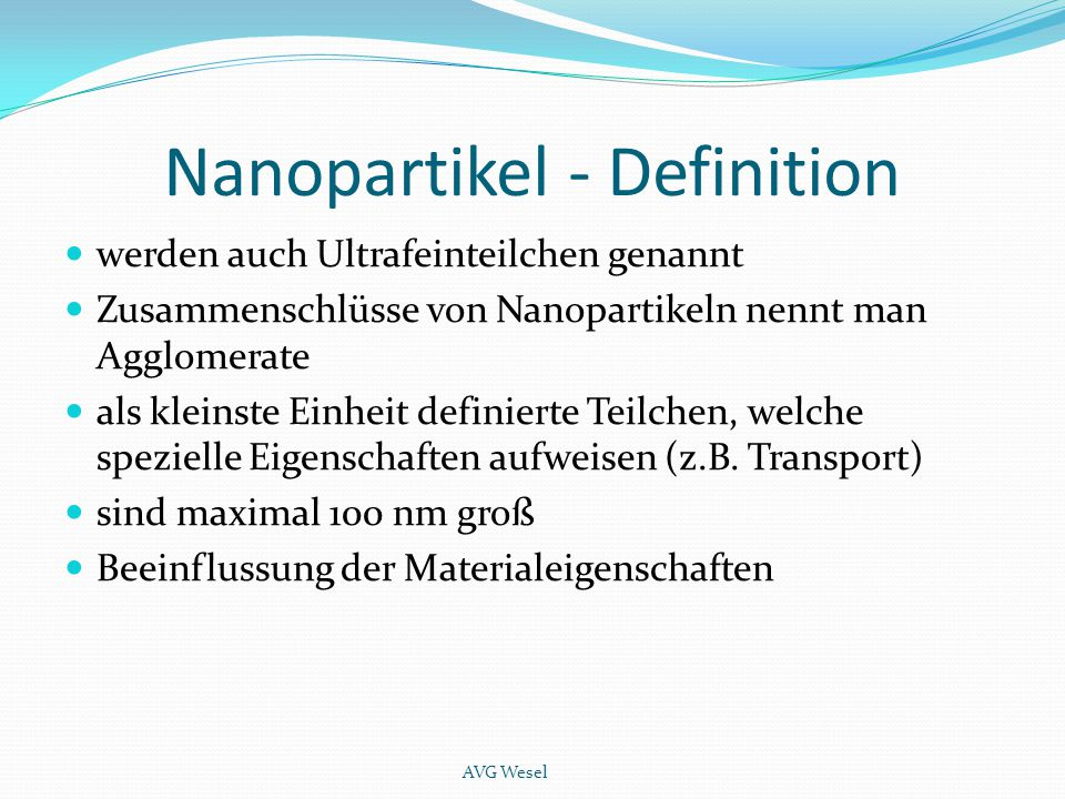 Nanopartikel - Definition