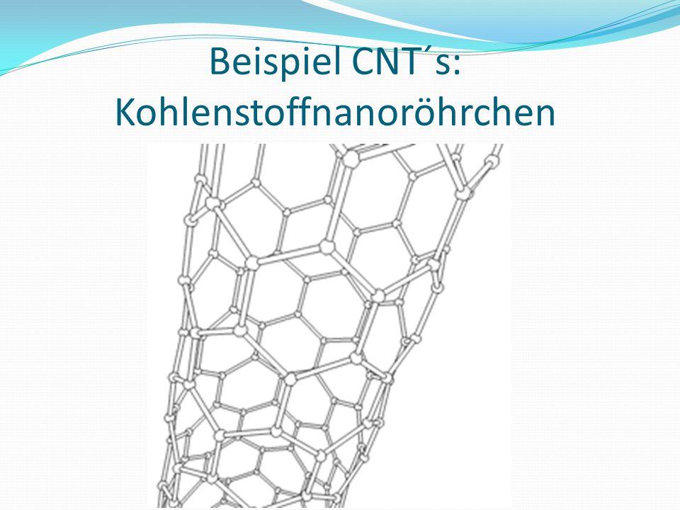 Beispiel CNT´s: Kohlenstoffnanoröhrchen
