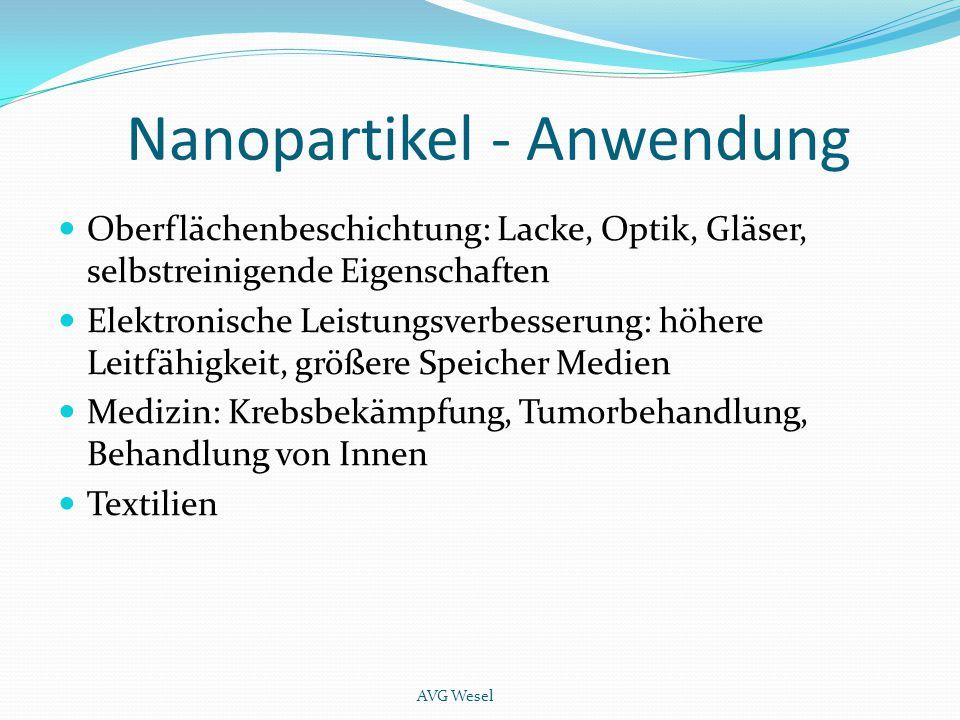 Nanopartikel - Anwendung