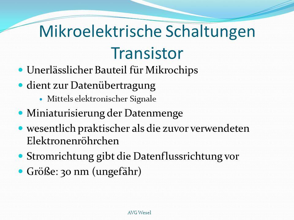 Mikroelektrische Schaltungen Transistor