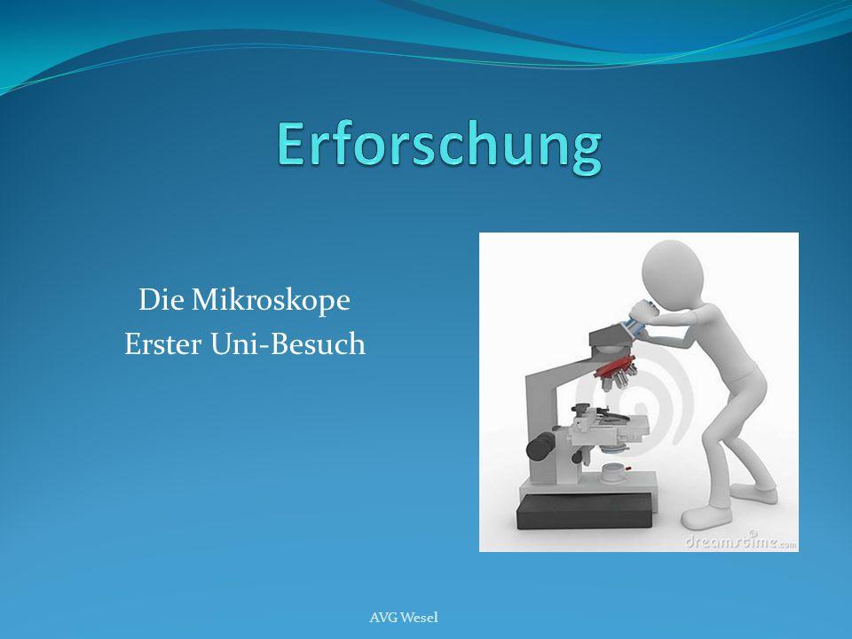 Die Mikroskope Erster Uni-Besuch