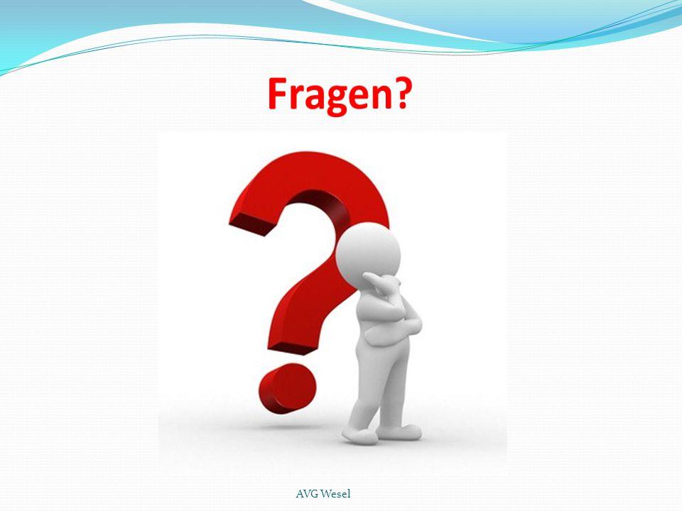 Fragen AVG Wesel