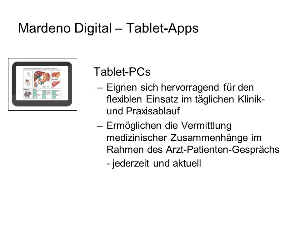 Mardeno Digital – Tablet-Apps