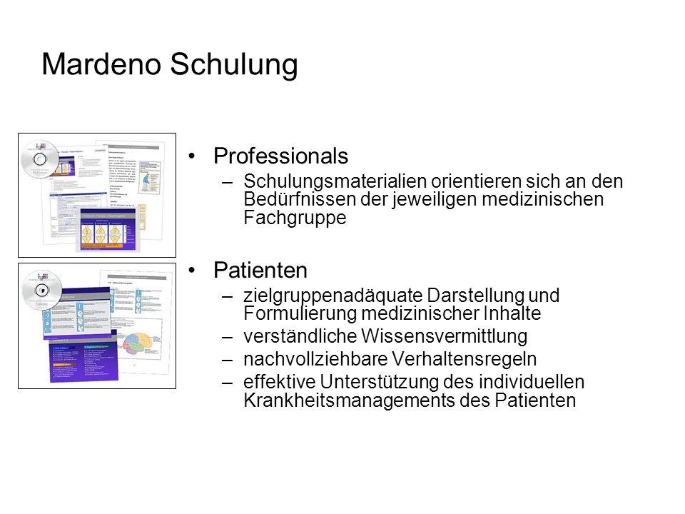 Mardeno Schulung Professionals Patienten